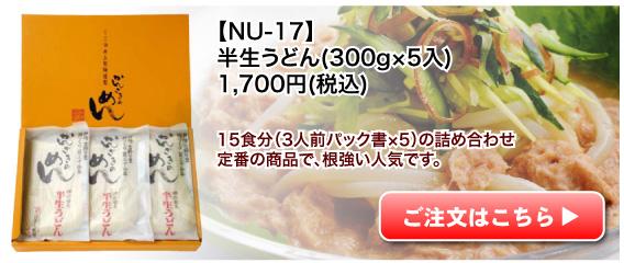 NU-17 半生うどん
