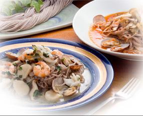 古代麺の調理例